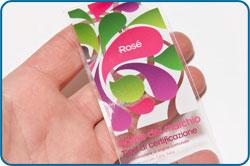 Etichette adesive trasparenti