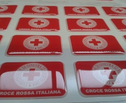 Adesivi resinati croe rossa